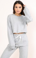 On The Chill Jumper in Grey Marle