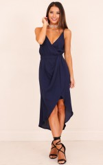 One More Night dress in navy
