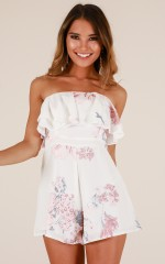 Other Half playsuit in white floral