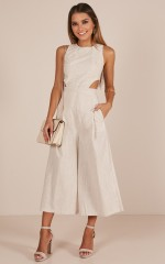 Out Dream Yourself jumpsuit in beige