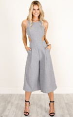 Out Dream Yourself jumpsuit in grey marle