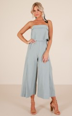 Paper Trail jumpsuit in sage