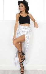 Parallel Universe Skirt in White Stripe