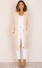 League Of Your Own cardigan in beige