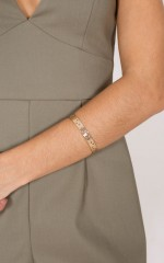 Please Dont Go bracelet in gold