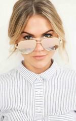Pop Star sunglasses in rose gold