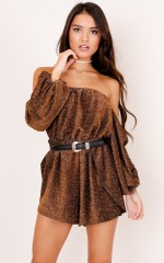 Proper Love playsuit in brown