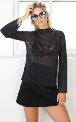 Public Enemy top in Black Mesh