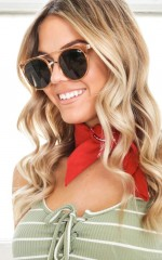 Quay - Kandygram sunglasses in gold and green