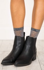 Queen Glitter Socks in grey