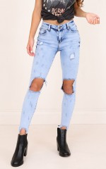 Raven jeans in light wash