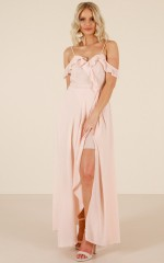 Real Fairies maxi dress in blush