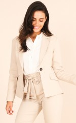 Reputation Blazer in Beige