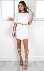 Way It Is shift dress in white