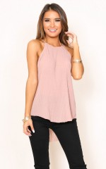 Right On Time top in blush