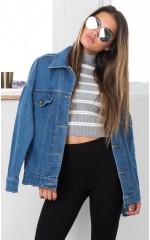 Billy Jean jacket in mid wash denim