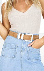 Rocking It belt in tan