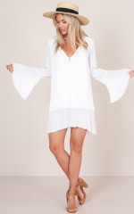 Rooftop Sunset shift dress in white