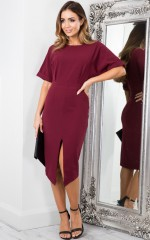 Run the Show dress in wine