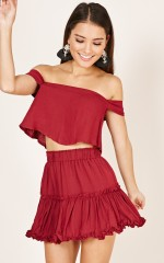 Sangria In The Sun skirt in wine