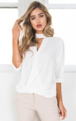 Slink About It top in white