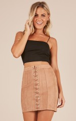 Secret Admirer skirt in tan