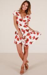 Secret Getaway dress in white floral
