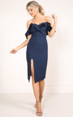 Set In Stone dress in navy