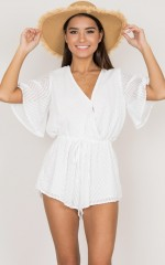 Shallow Waters playsuit in white