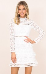 Siena Dress in white