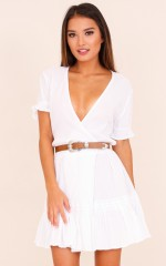 Skip A Beat dress in white