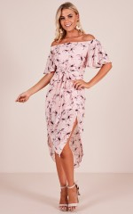 Snow Bird dress in blush floral