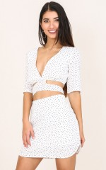 Spot On skirt in white polka dot