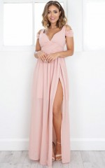 Stand Close dress in blush