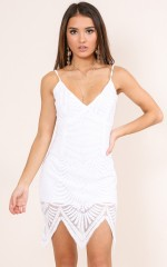 Star Bright dress in white