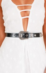 Stargazer belt in black and silver