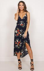 Step Up dress in navy floral