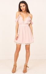Stick Up dress in blush