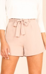 String Along Shorts in Mocha