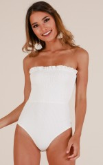 Summer Of Love bodysuit in white