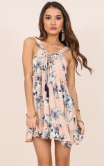 Summer Surrender tunic dress in blue floral