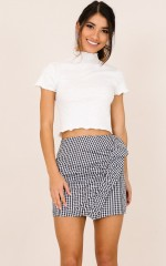 Sunday Brunch skirt in black and white