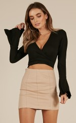 Sunday Drive Top in black