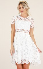 Sunday Love dress in white crochet