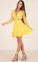 Sunday Mornings dress in yellow