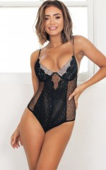 Sweet Devotion Bodysuit in black