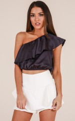 Sweet Scene crop top in midnight blue