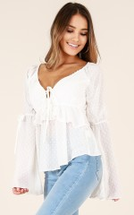 Sweetheart Class top in white
