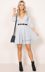 Take Me Down dress in grey
