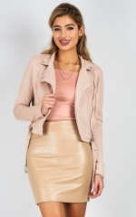 The Good Life jacket in blush suedette